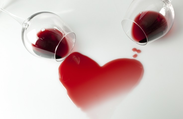 red wine-heart