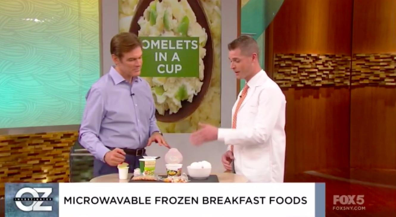 Dr. Oz Show – Microwavable Breakfast Foods